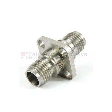 Fairview Microwave SM3017 2.4mm Female to 2.4mm Female 4 Hole Flange Adapter (50 Ghz)