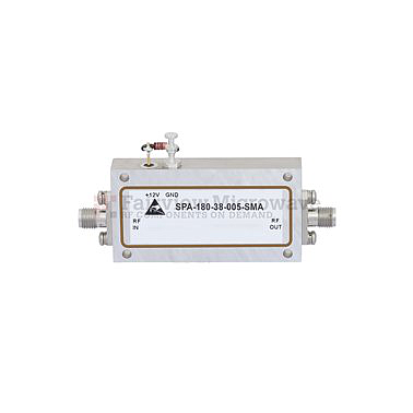 Fairview SPA-180-38-005-SMA 6 GHz to 18 GHz, Medium Power Broadband Amplifier with 500 mW, 42 dB Gain and SMA