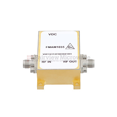 Fairview FMAM1035 6 dB NF Low Phase Noise Amplifier Operating From 3 GHz to 8 GHz with 11 dB Gain, 14 dBm P1dB and SMA