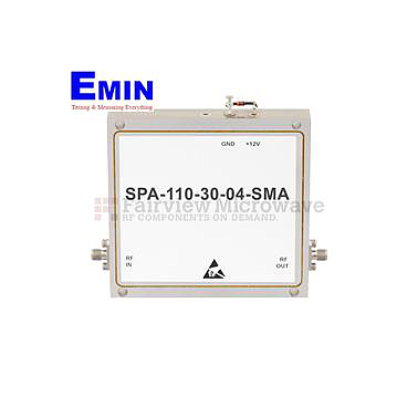 Fairview  SPA-110-30-04-SMA High Power Amplifier at 4 Watt P1dB Operating From 8.5 GHz to 11 GHz with 30 dB Gain, 45 dBm IP3 and SMA