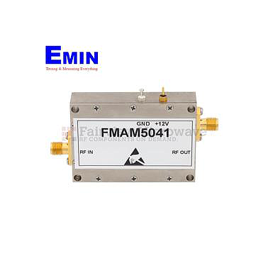 Fairview FMAM5041 High Power Amplifier at 6 Watt P1dB Operating From 800 MHz to 960 MHz with 37 dB Gain, 50 dBm IP3 and SMA