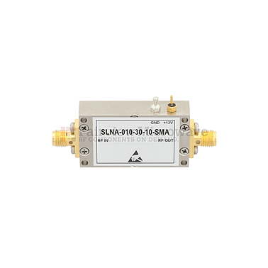 Fairview SLNA-010-30-10-SMA 1 dB NF Low Noise Amplifier Operating From 10 MHz to 1,000 MHz with 30 dB Gain, 17 dBm P1dB and SMA