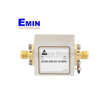 Fairview SLNA-020-35-15-SMA 1.5 dB NF Low Noise Amplifier Operating From 1 GHz to 2 GHz with 35 dB Gain, 10 dBm Psat and SMA
