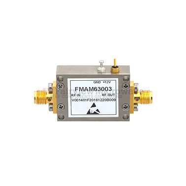 Fairview FMAM63003 1.6 dB NF Low Noise Amplifier Operating From 30 MHz to 1.5 GHz with 25 dB Gain, 22 dBm P1dB and SMA