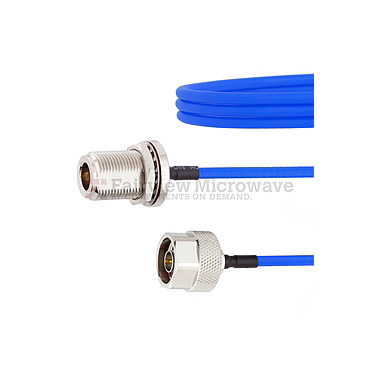 Fairview FMCA1050  N Female Bulkhead to N Male Cable FM141FLEX Coax and RoHS Compliant