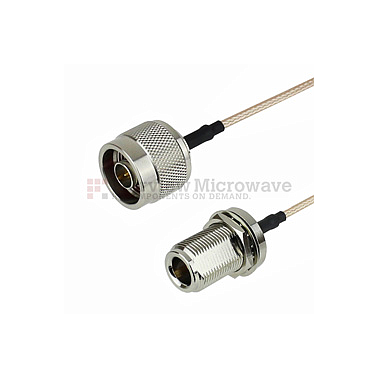 Fairview FMC0111315  N Male to N Female Bulkhead Cable RG-316 Coax
