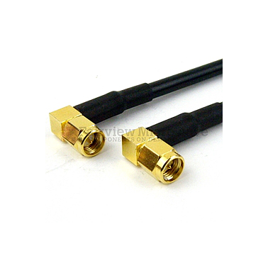 Fairview FMC0404058 RA SMA Male to RA SMA Male Cable RG-58 Coax
